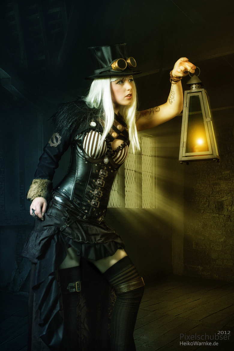 Photograph Steam Punk - Girl in Night by Heiko Warnke on 500px