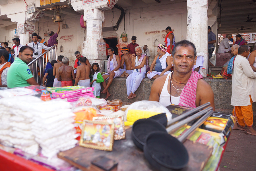 A vendor Selling worship articles, by MIHIR RANJAN on 500px.com
