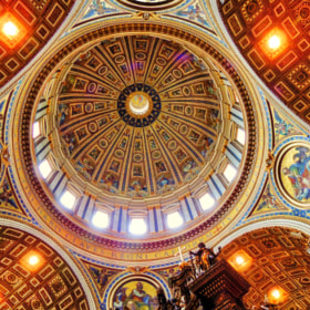 Dome of St. Peter's, Vatican city. by Ravi S R (srravi)) on 500px.com