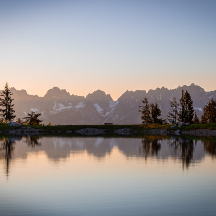 Wilder Kaiser Reflection at Sunset