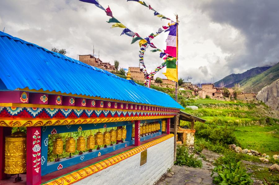 Prayer wheels Nepal by Abhinav Singh on 500px.com