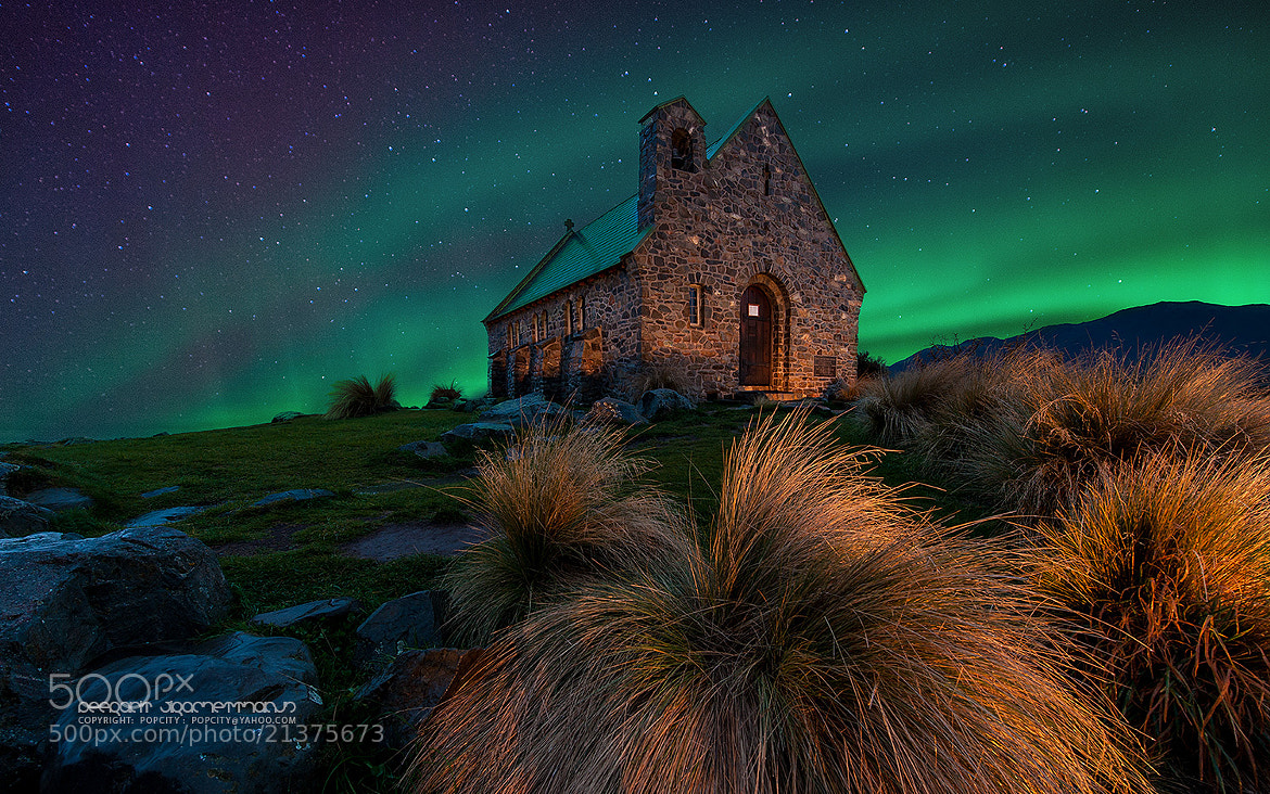 Photograph Aurora at Lake Tekapo by Peerakit Jirachetthakun on 500px