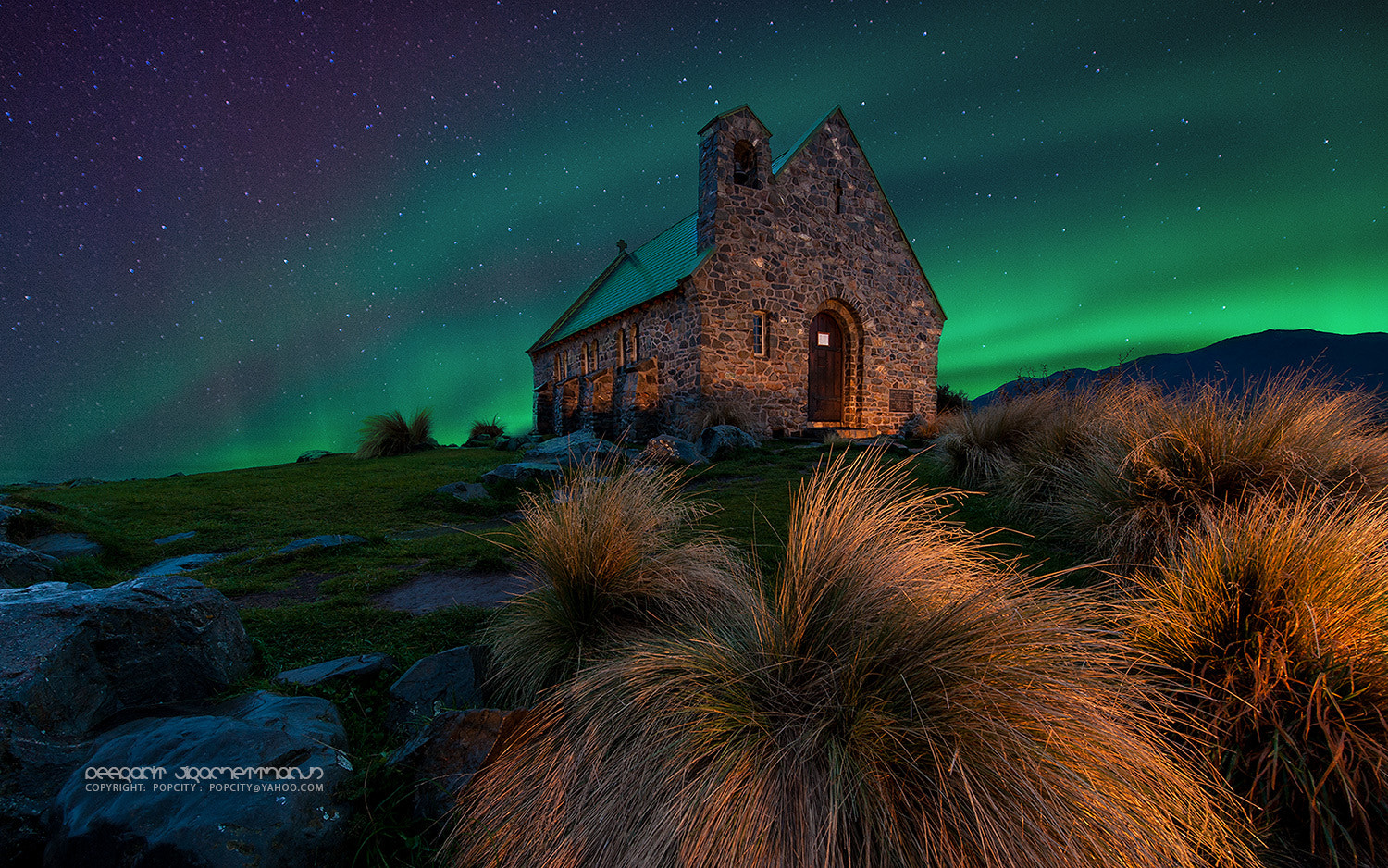 Photograph Aurora at Lake Tekapo by Peerakit Jirachetthakun 5392 on 500px