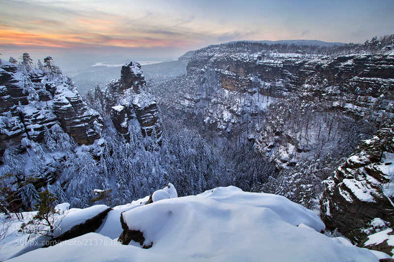 Photograph Winter in the Rocks by Martin Rak on 500px
