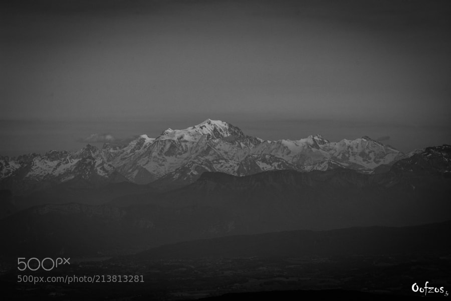 Mont Blanc from the Bugey
