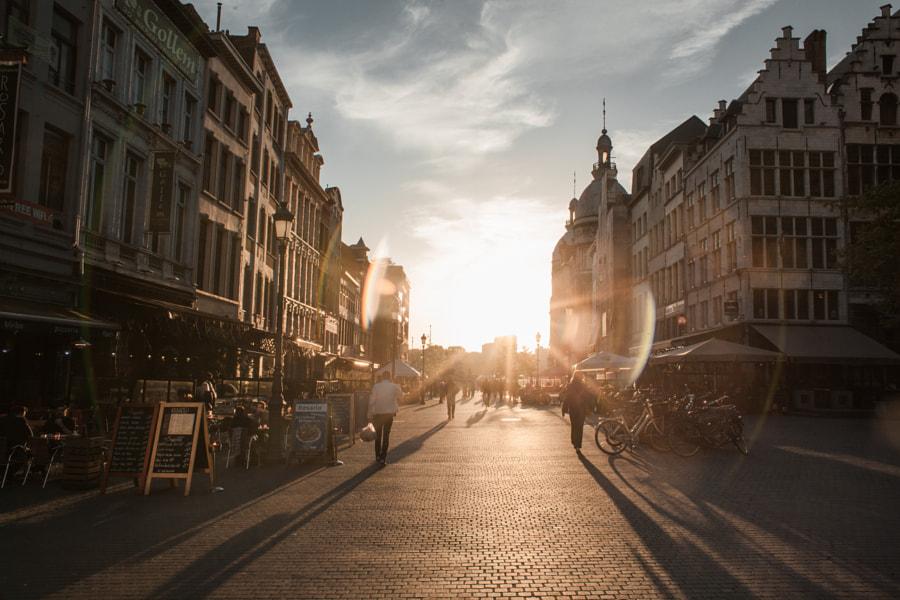 Sunset in Antwerpen