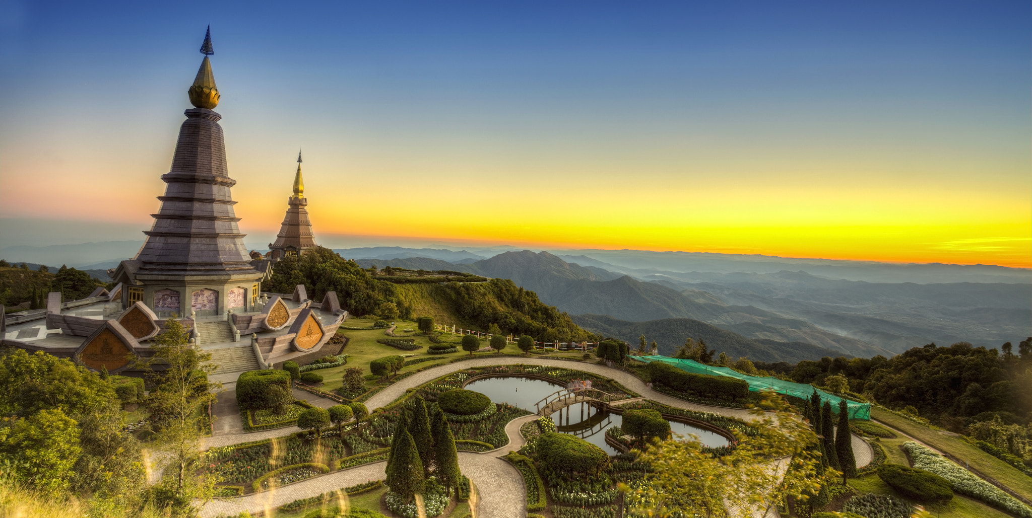 Photograph Landscape of  Two pagoda at Doi Inthanon by Anek S on 500px