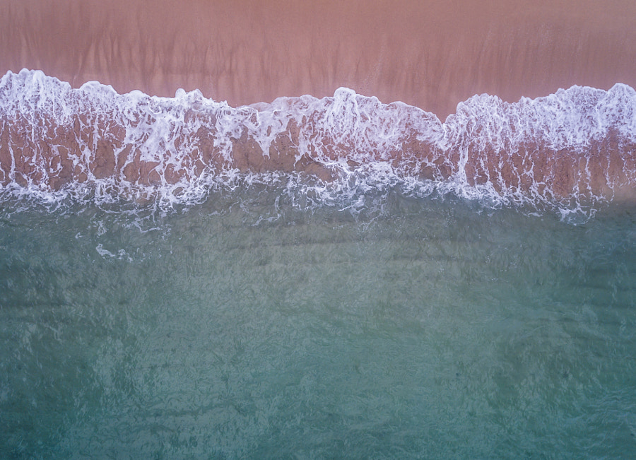 Aerial view of the Ocean and beach by Kelly Headrick on 500px.com