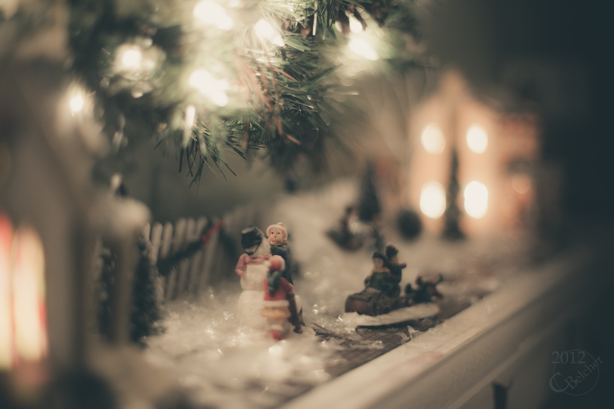 Photograph Christmas Mantel, Snowman by Chris Belcher on 500px