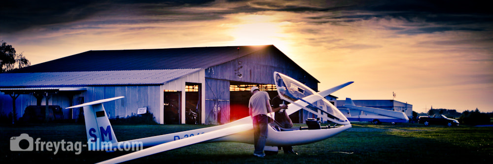 Photograph Glider Sunset by Daniel Freytag on 500px