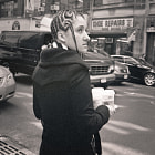 Medium format black and white street photography: New York City