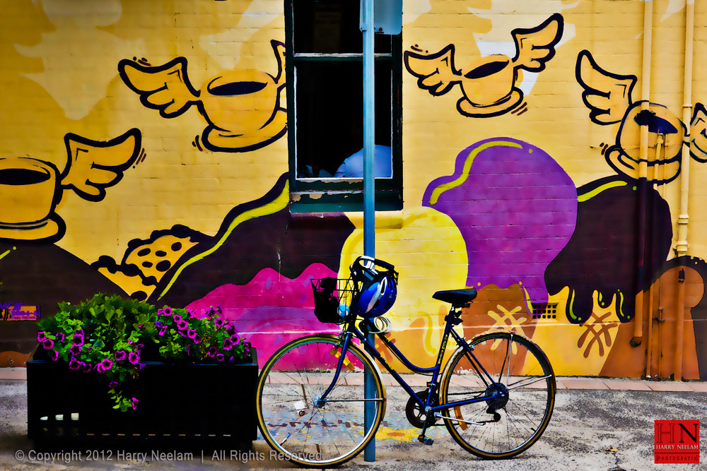 Photograph Flying Coffee Cups with bike by Harry Neelam on 500px
