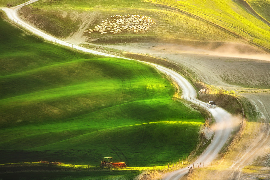 Photograph Road to the farm by Marcin Sobas on 500px
