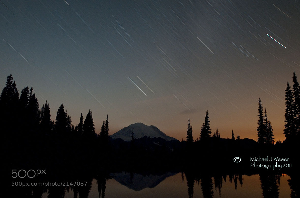 Photograph Star Trails Mount Rainier  by Michael Wewer on 500px