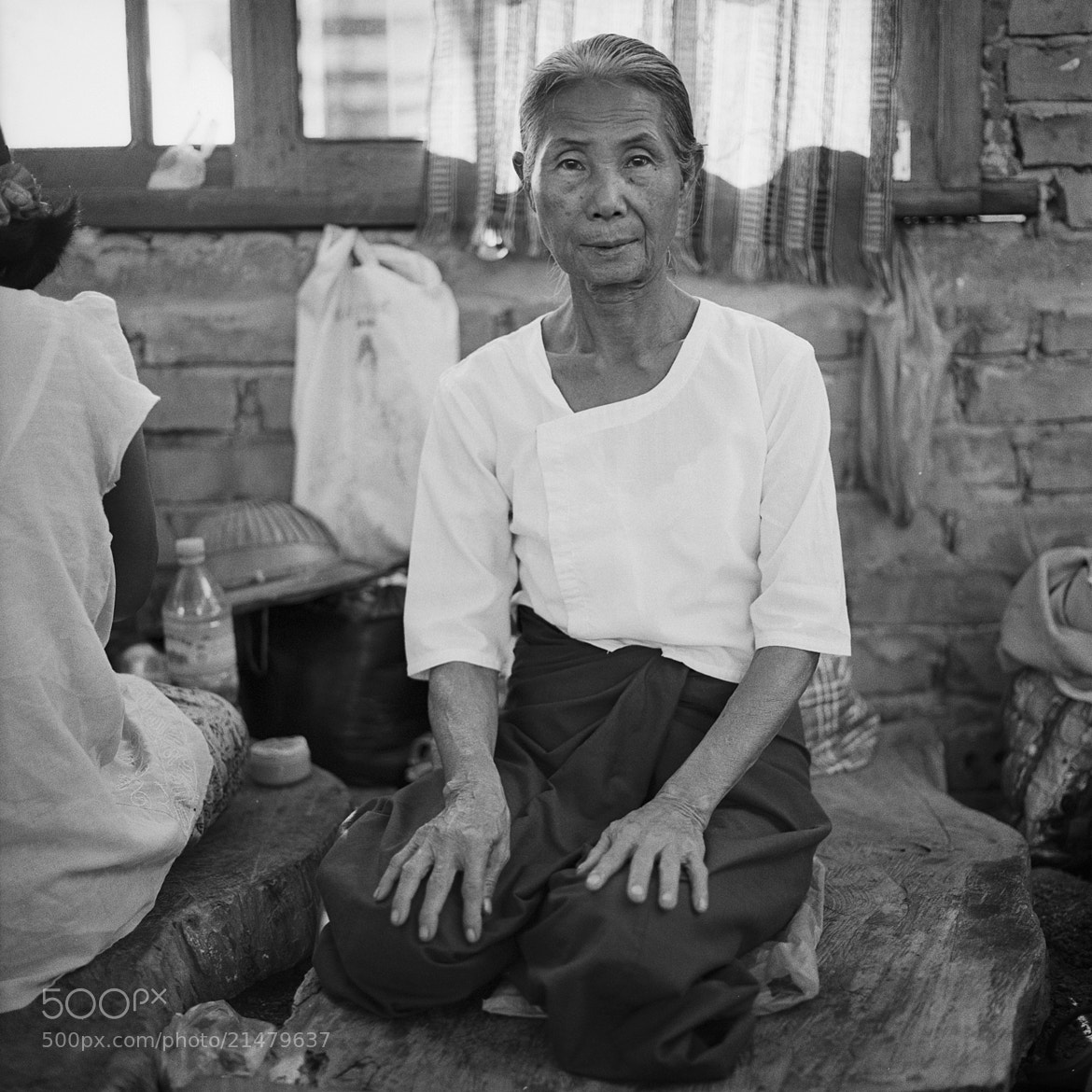 Photograph lady, meditation center for the homeless by  momofuku on 500px