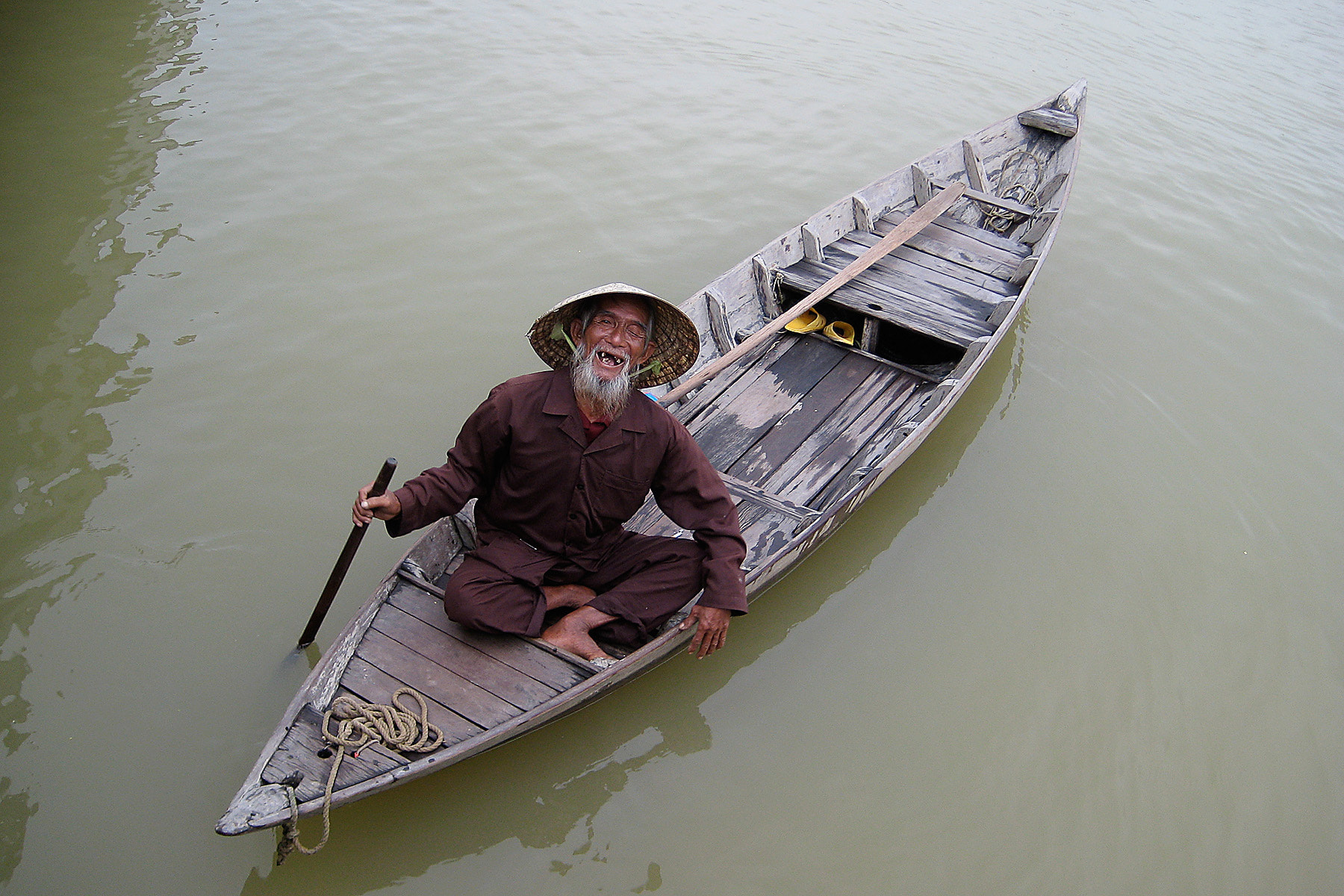 Photograph Old Man in Boat by Mark Reibman on 500px