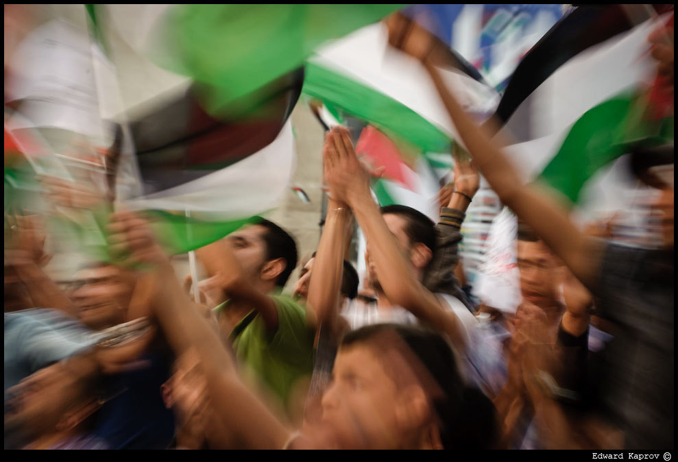 Photograph Palestinians Gather In Ramallah For Mahmoud Abbas Speech To UN by Edward Kaprov on 500px
