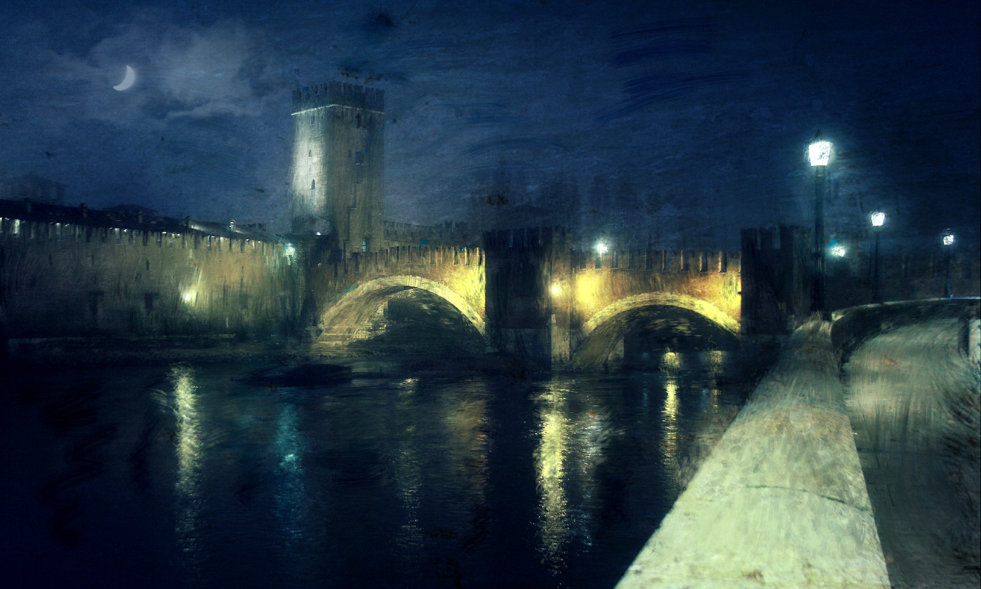 Photograph Verona, Castelvecchio like a paint by Vittorio Chiampan on 500px