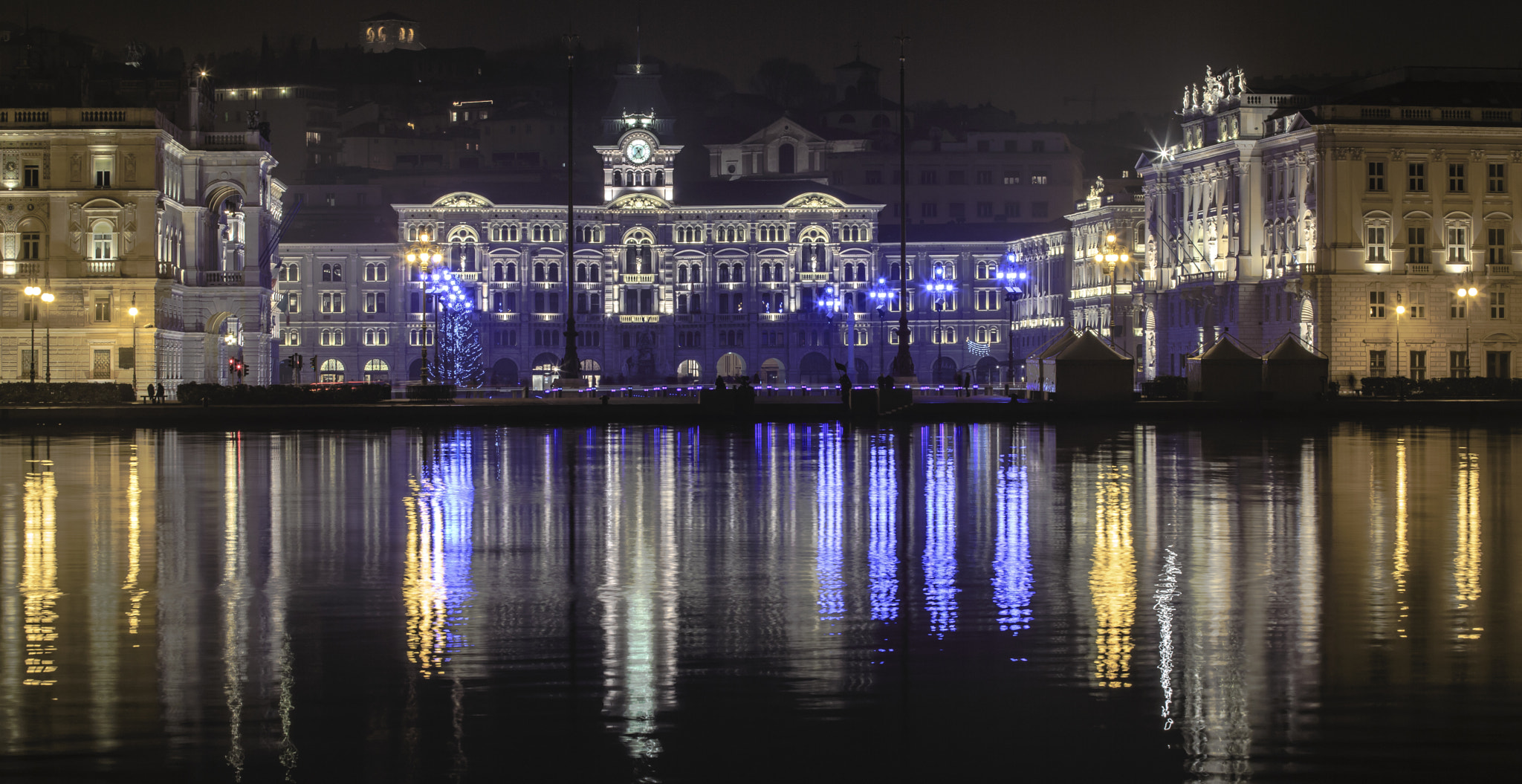 Photograph Trieste Xmas Colors by Jure Batagelj on 500px