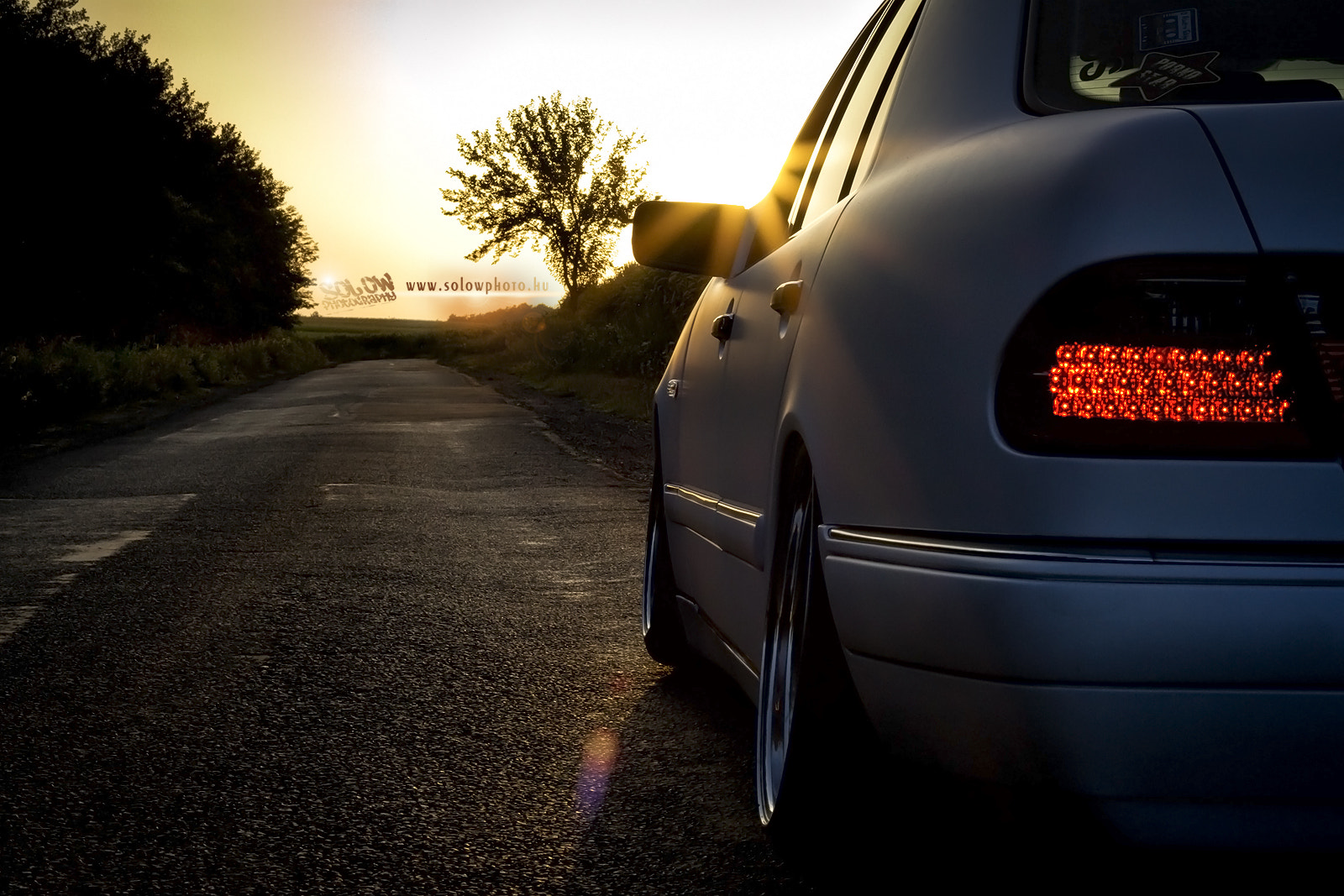 Photograph Mercedes sunset by Peter Orban on 500px