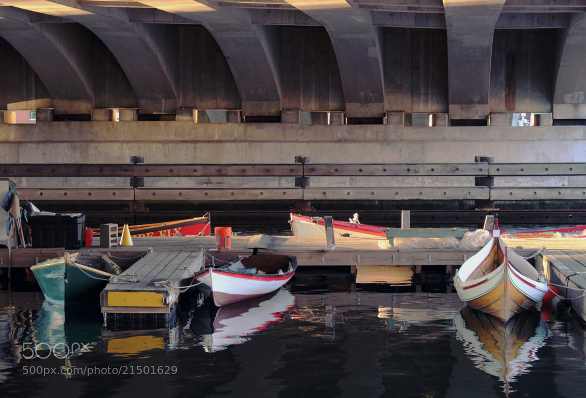 Photograph Boats #3 (Under the Bridge) by Tyler Lavoie on 500px
