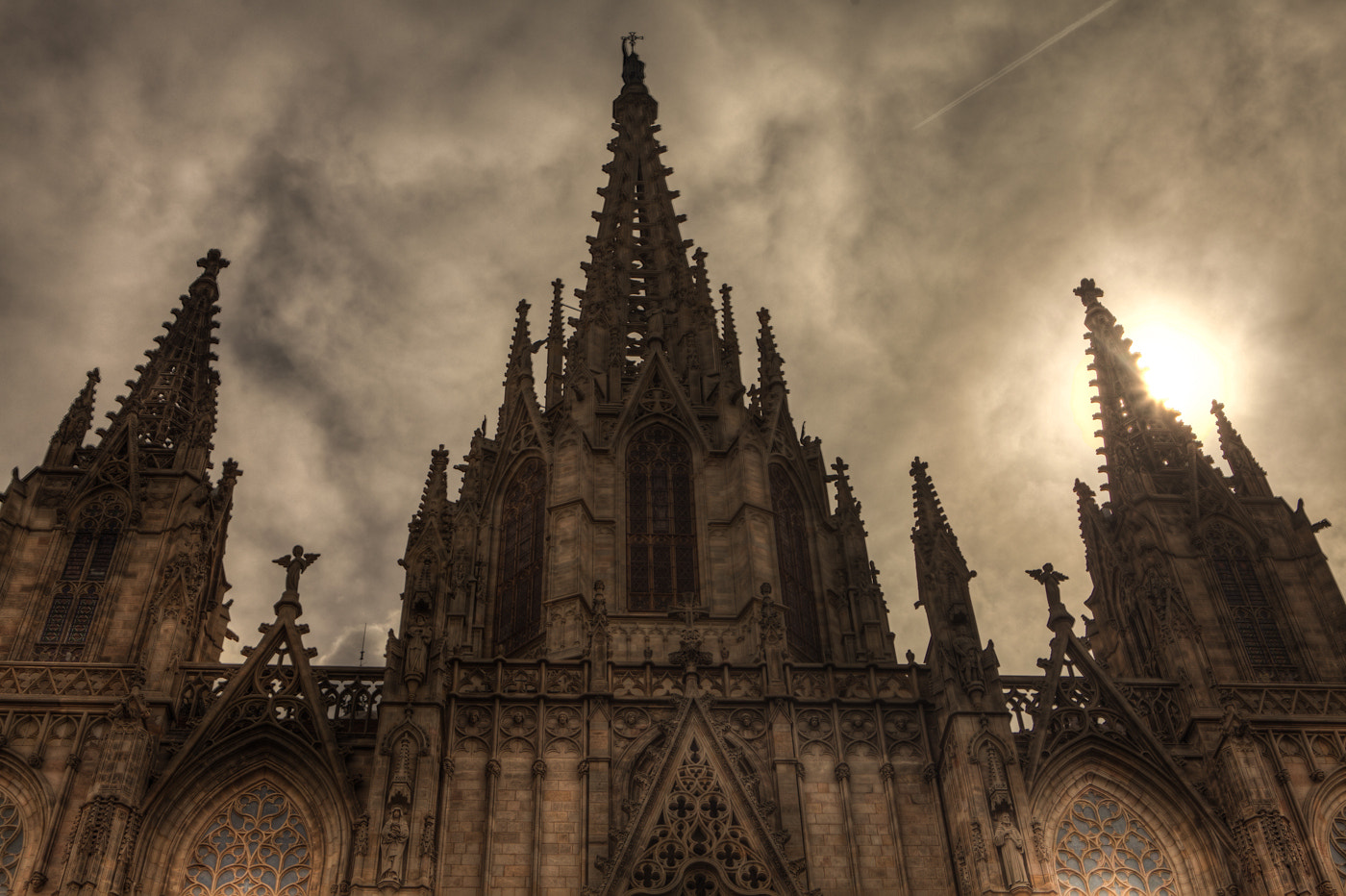 Photograph The giant Gothic Barcelona Cathedral by Guy Prives on 500px