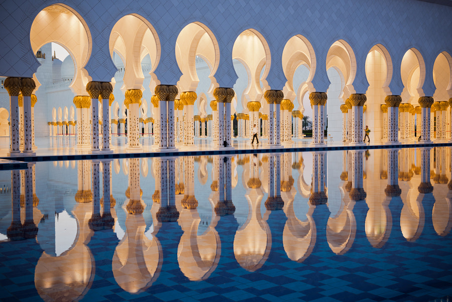 Sheikh Zayed White Mosque in Abu Dhabi by dvoevnore . on 500px.com