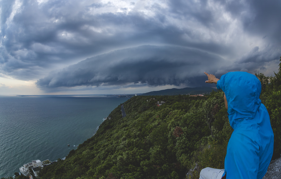 Selfie With Shelf Cloud by Jure Batagelj on 500px.com