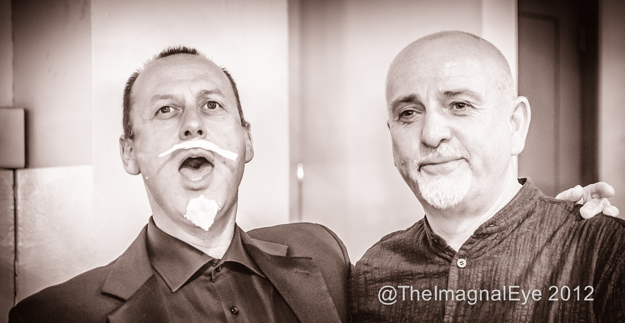 Photograph The uncanny resemblance between Berthold Anfanger and his doppelganger, Peter Gabriel.  by Pip Eastop on 500px