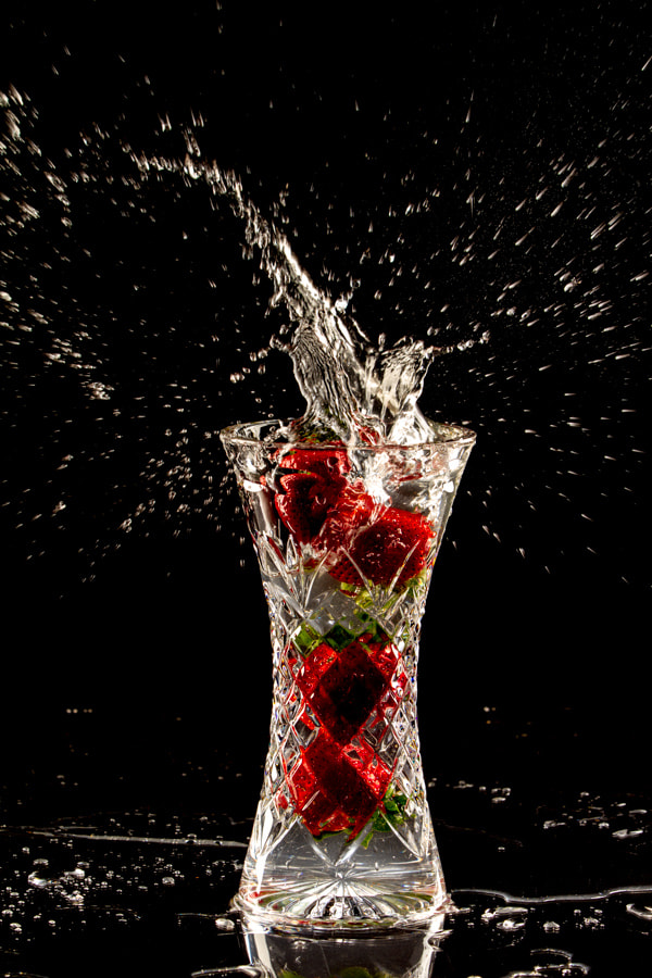 Photograph Strawberry Drop Version 4 by Heath Hurwitz on 500px