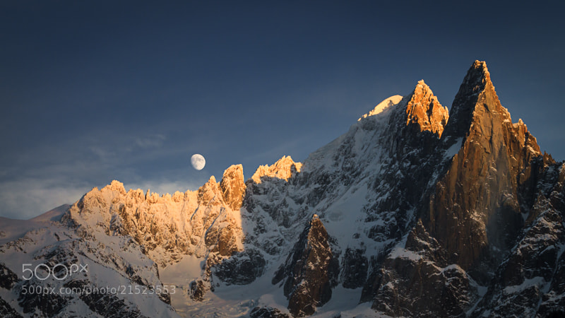 Photograph Les Drus et la lune by Fabrizio Cantinotti on 500px