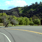 A road up in the hills on Old Calabasas Road.