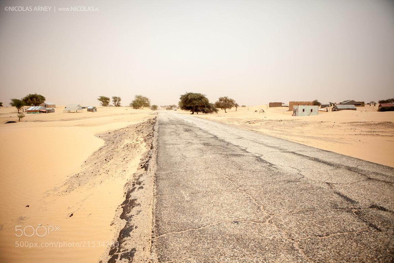 Photograph Mauritania Desert Road by Nicolas Arney on 500px