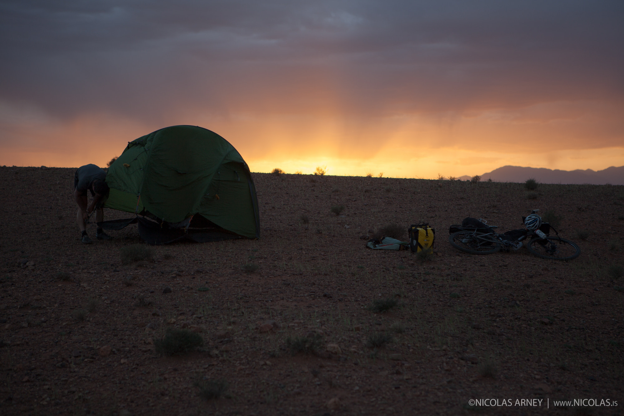 Photograph Camp at Sunset in Morocco by Nicolas Arney on 500px