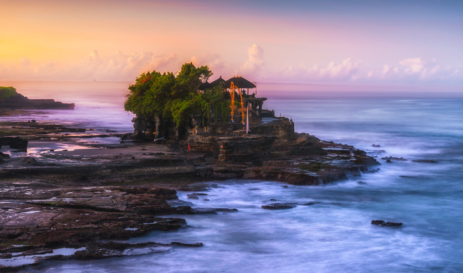 Tanah Lot Temple at sunrise in Bali, Indonesia. by Pongnathee Kluaythong on 500px.com