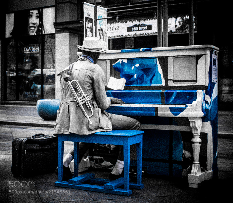 Photograph Denver Piano Man by Marlon Jay Manuel on 500px