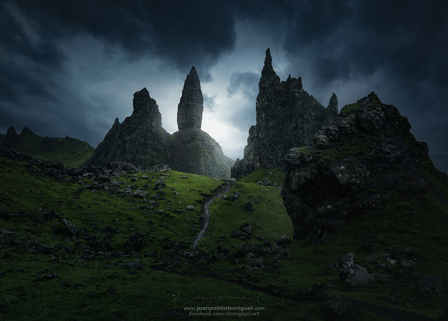 Landscape Photo Dark mass Storr. by Landscape Photographer Juan Pablo de Miguel on 500px.com