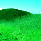 Green rolling hills in Upper Las Virgenes Canyon Open Space Preserve (formerly Ahmanson Ranch).