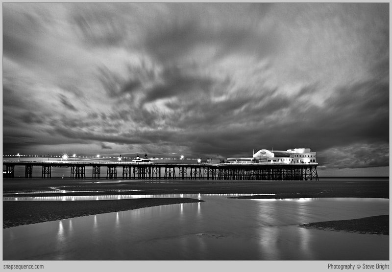 Photograph Blackpool North Pier, Dusk by Steve Bright on 500px