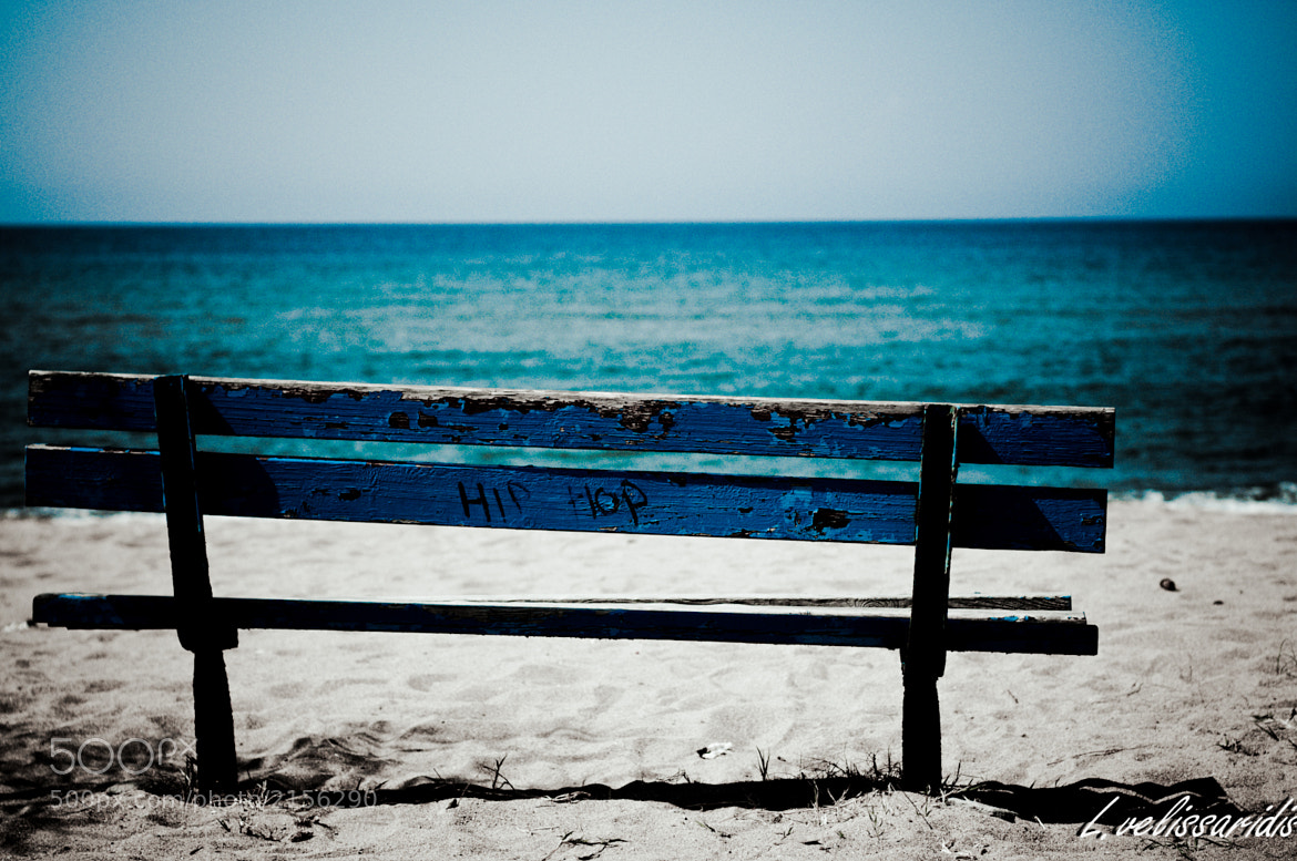Photograph Bench on the Beach by Lampros Velissaridis on 500px