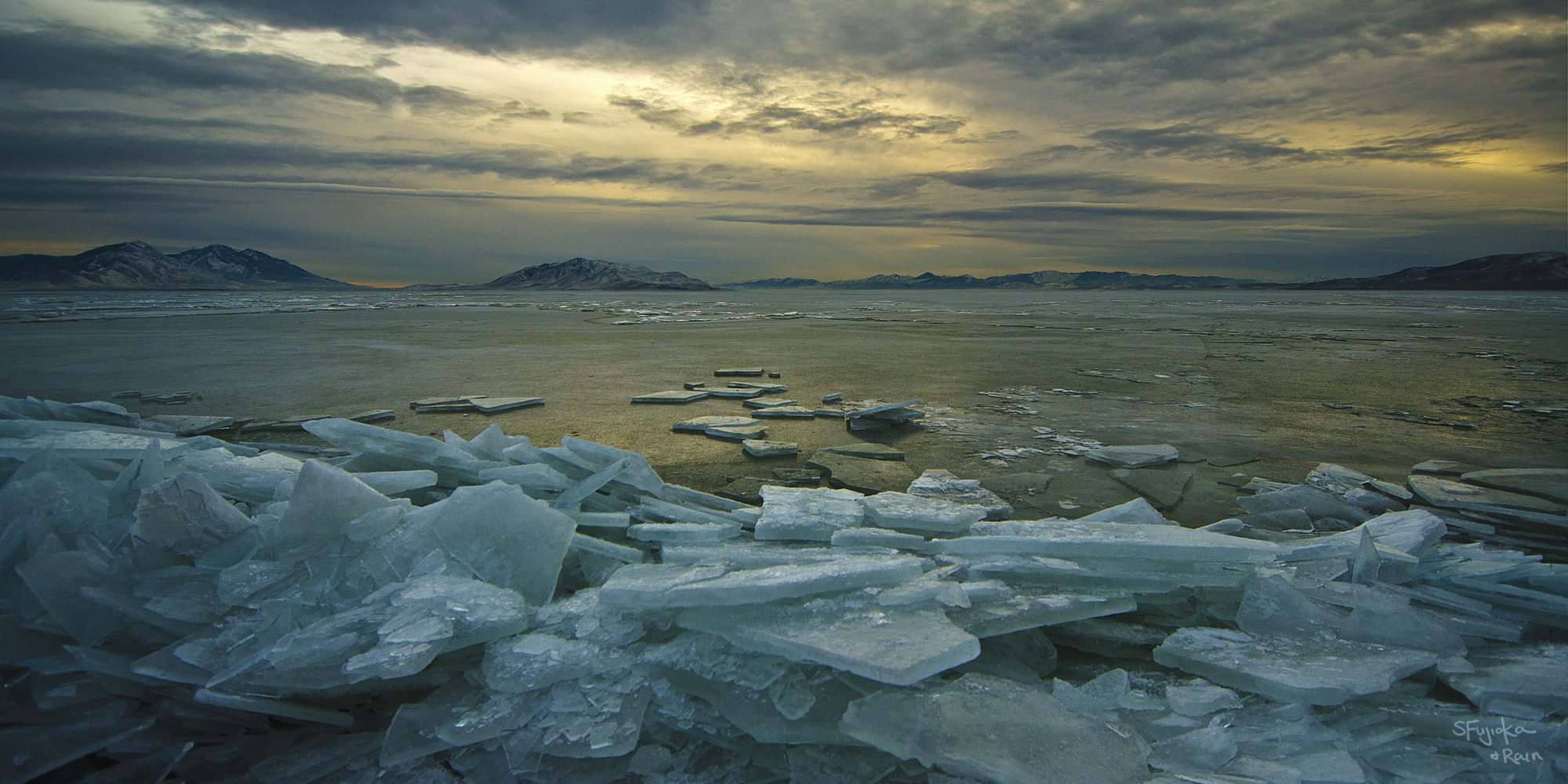 Photograph Ice Slabs at Utah Lake by Shinji Fujioka on 500px