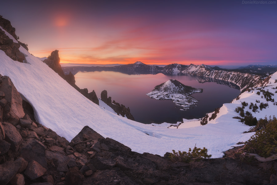 Landscape Photo Crater lake by Landscape Photographer Daniel Kordan on 500px.com