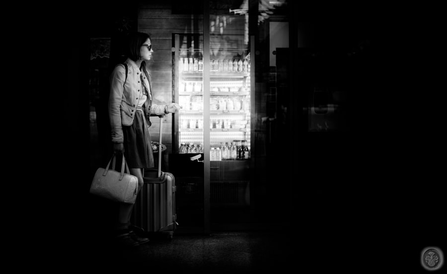 ...travelling lady lit by the fridge light... by Christopher v. Badengoth on 500px.com