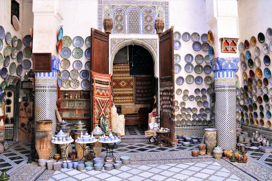 Lalaj Ali Tiles Shop; Morocco by hayazici on 500px.com