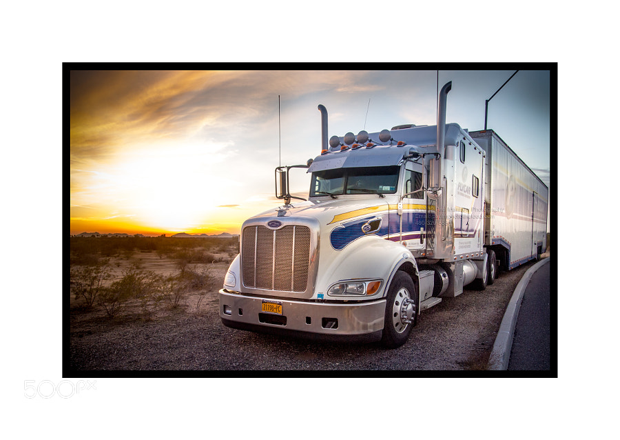 Photograph Truck parked as sun sets on desert by Paul Matthew Photography on 500px