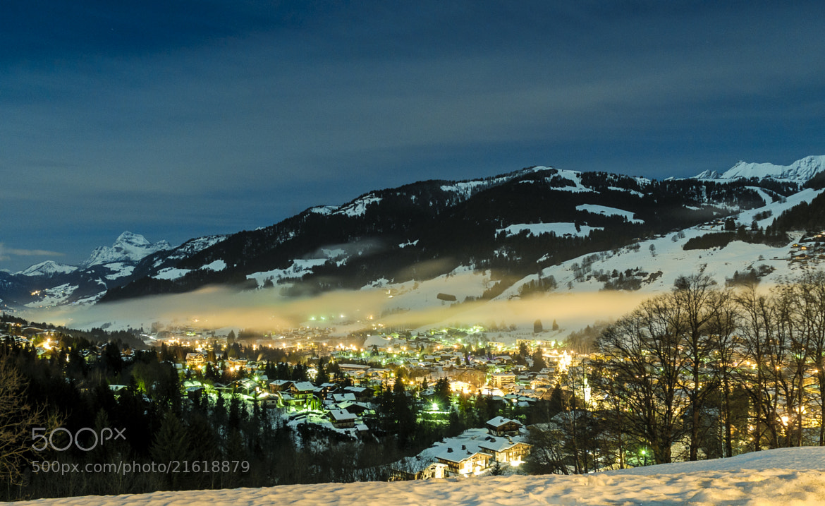 Photograph Full Moon in Megève by Vincent Charvet on 500px