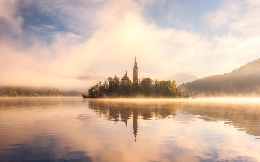 Golden Morning in Slovenia by Daniel F. on 500px.com