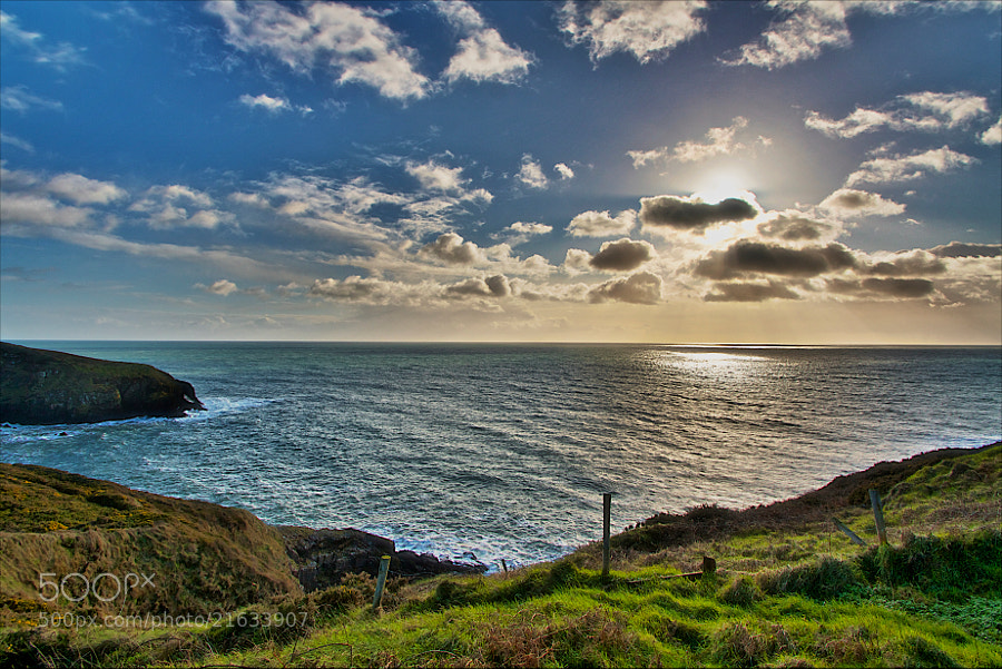 Taken in winter at a location half way between Waterford and Cork in Ireland, called Ardmore, looking towards the Atlantic.