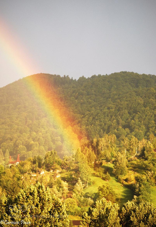 Photograph beautiful rainbow after summer rain by Carmen Paun on 500px