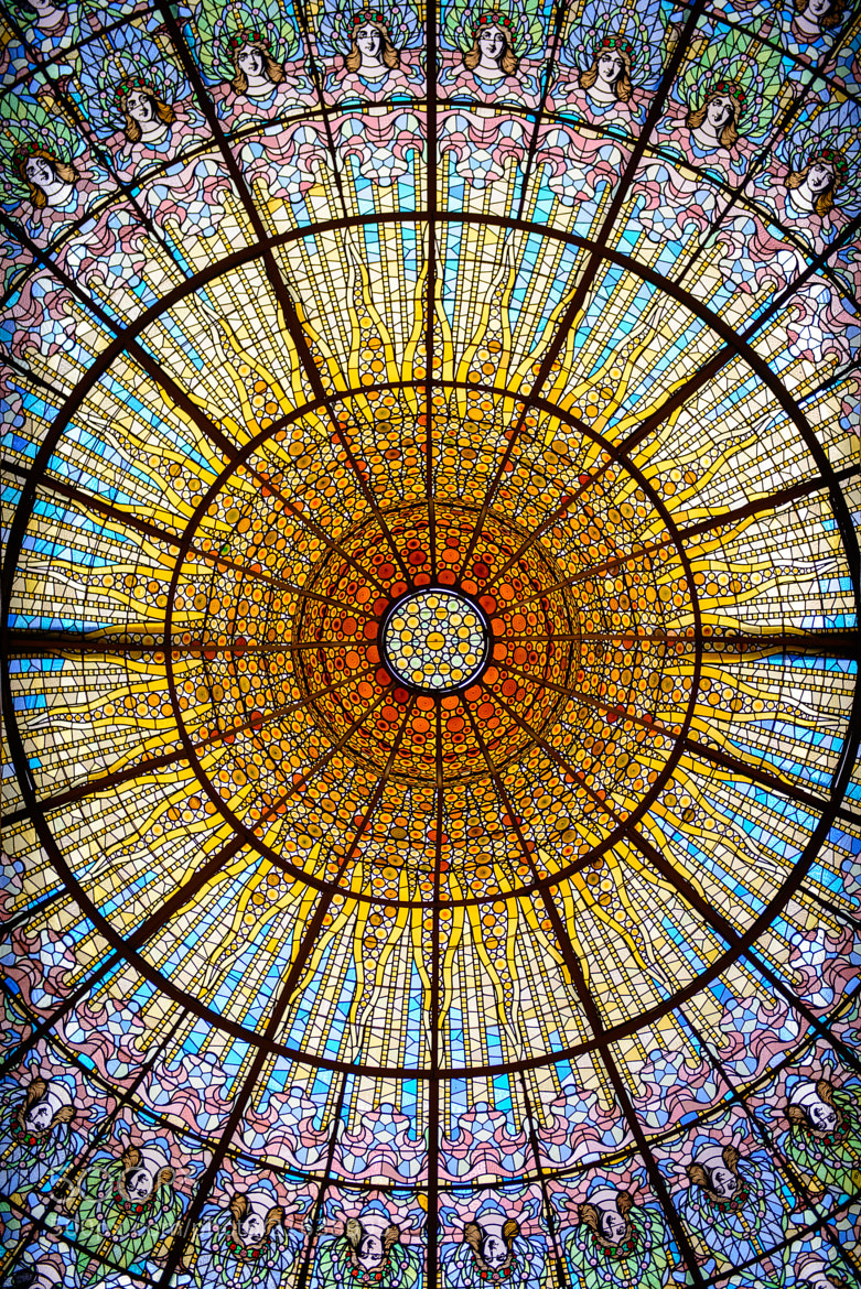 Photograph Palau de la Musica ceiling by Martin Tyler on 500px